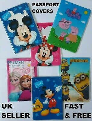 Disney Mickey, Minnie Mouse, Peppa Pig, Frozen & MORE Passport Holder Cover UK