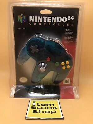 NEW OEM Nintendo 64 N64 Authentic Ice Blue Funtastic Controller Blister Sealed
