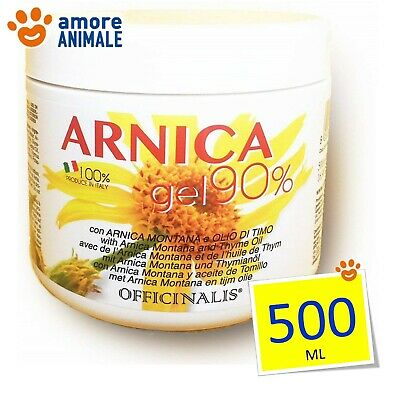 Officinalis ARNICA 90% Gel 500 ml - Antinfiammatorio cura distorsioni muscolari