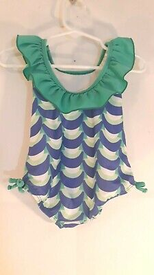 224838b330adf Gymboree Girl's Size 6m -12m Ruffle Top 1 Piece Multicolored Swimsuit
