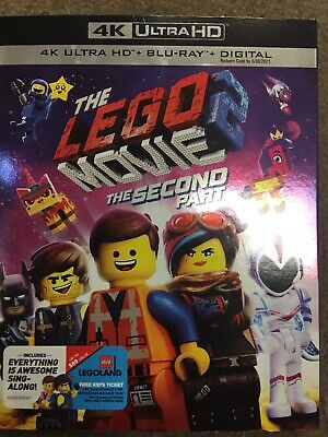The Lego Movie 2 : The Second Part (4K HD + Blu-ray + Digital) NEW w/ slipcover
