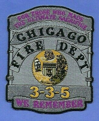 Chicago Fire Department Signal 3-3-5 Patch ~ Illinois ~ We Remember Our Fallen