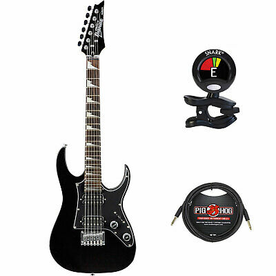 Ibanez GRGM21 miKro Series Electric Guitar (Black Night) w/Clip On Tuner & Cable
