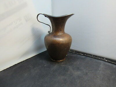 Antique Arts and Crafts Mission  hand hammered copper pitcher