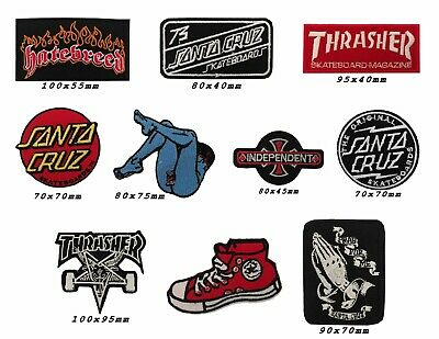 thrasher Santa Cruz Independent Skateboard trucks Embroidered Iron/Sew On Patch