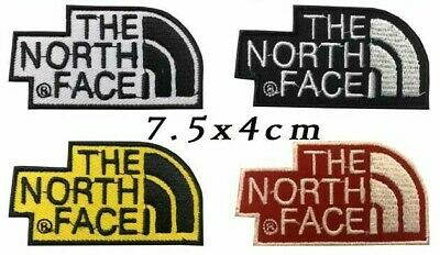 The North Face Iron on Sew On Embroidered Patches Clothes Jackets Shirts Cap