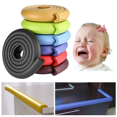 Baby Kid Safety Table Desk Edge Corner Cushion Guard Strip Soft Bumper Protector