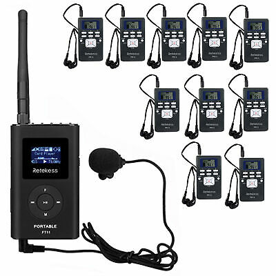 Wireless Tour Guide System Transmitter+10*Receiver for Museum/Meeting/Training
