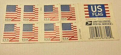 Book of 20 Forever USA Flag Stamps - #4027B