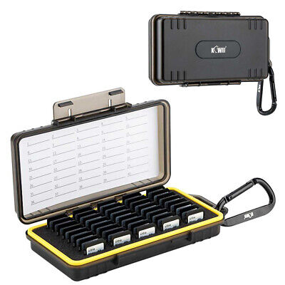 40 Slots Water-Resistant SD SDHC SDXC Memory Card Case Box Storage Holder