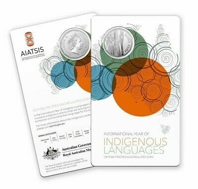 2019 50 Cent CuNi Frosted Unc Coin – International Year of Indigenous Languages
