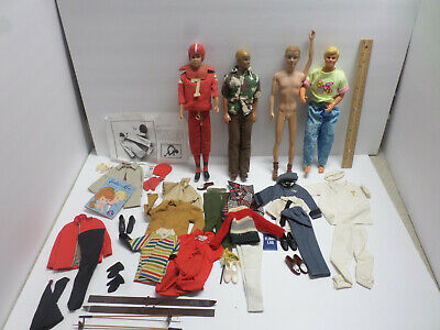 Lot of Vintage 1960's Misc Ken BARBIE Doll Clothes & Accessories