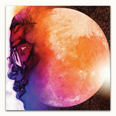 Kid Cudi Man On The Moon The End of Day 2009 Fabric Poster 12x12 24x24 27x27 B59