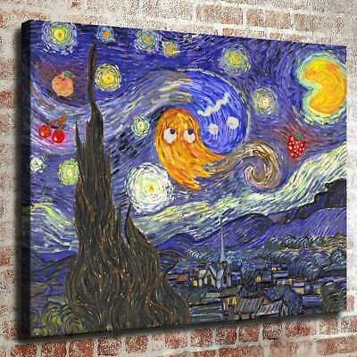 Starry Night At The Arcade HD Canvas Prints Painting Home Decor Picture Wall Art