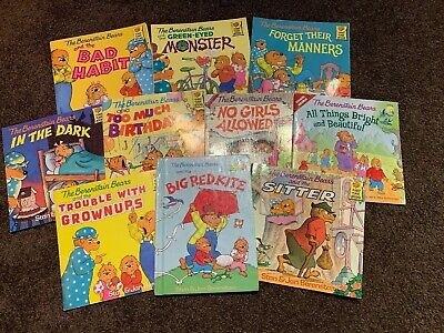 Berenstain Bears Lot Of 10 Paperback Children's Book Lot All Different! Stan Jan
