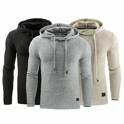 Mens Plain Hoodie Hoody Pullover Gym Jacket Sweater Tops Jumper Sweatshirts Coat