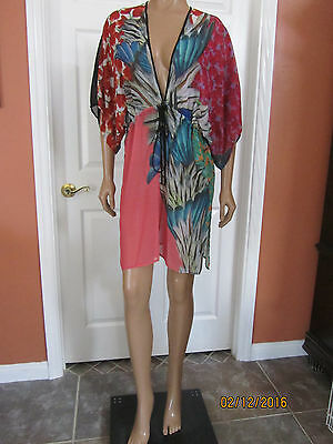 7ab85e4db2d6c CLOVER CANYON Carnival Swim Cover Up Beach Dress Size XS ~NWT~ $242