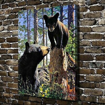 Animal Bear Stump Jumper Painting HD Print on Canvas Home Decor Wall Art Picture