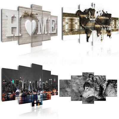 UK 5 Panels Huge Modern Canvas Print Pictures Painting Art Wall Home Decor 1