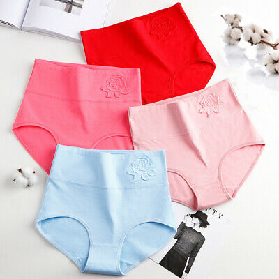 Women Sexy Panties High Waist Cotton Seamless Underwear Underpants Briefs Soft