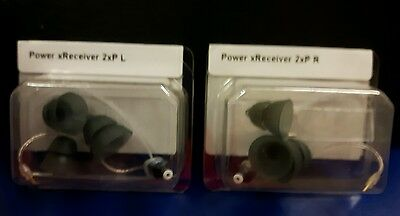 POWER SIZE 2 Genuine PAIR of 2 NEW Phonak / Unitron Hearing Aid Receivers