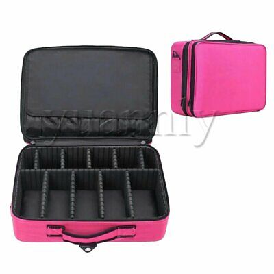 Travel Makeup Train Case Cosmetic Case Organizer Portable Artist Storage Bag