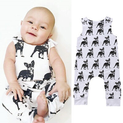 Newborn Infant Baby Boy Girl Clothes Sleeveless Romper Jumpsuit Bodysuit Outfits