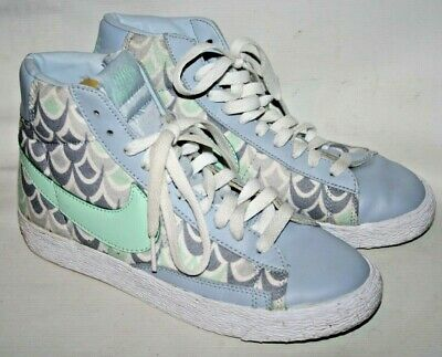 Nike Women's Girls Casual Blue High Ankle Sneakers Trainers Shoes Comfy 3 UK