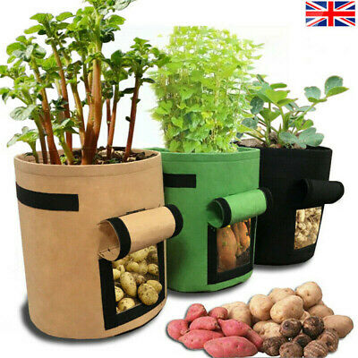 Vegetable Growing Bag Side Window Plant Bags Potato Cultivation Home Garden UK