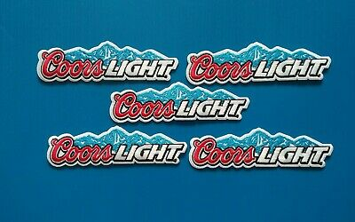 5 LOT COORS LIGHT Embroidered Iron Or Sewn On BEER BREWERIANA Patches Free Ship