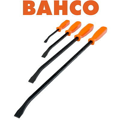 BAHCO 4 PIECE PRY BAR SET HAND LEVER WRECKING HANDLED CROW, 200mm-600mm 2484/S4