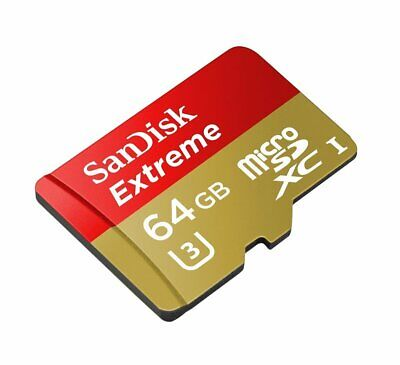 Sandisk 64GB 60MB Extreme Micro SD SDXC Class10 UHS-I U3 Card  For Go Pro Hero