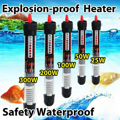 Submersible Aquarium Eco Heater 25w 50w 100w 150w 200w 300w Fish Tank Thermostat