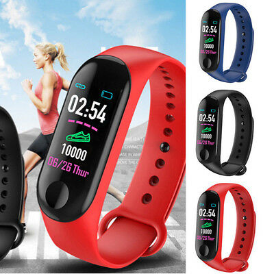 M3 Sport Fitness Smart Wrist Band Pedometer Activity Tracker Bracelet Watch New