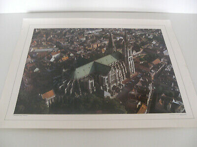 Ancienne Planche Affiche Poster Photo Scolaire Cathedrale Chartres Cdn
