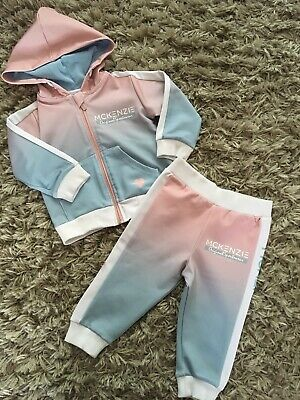7bf08dc830 Baby Girls Tracksuit Set By MCKENZIE 12-18 Months Candy Floss Colour