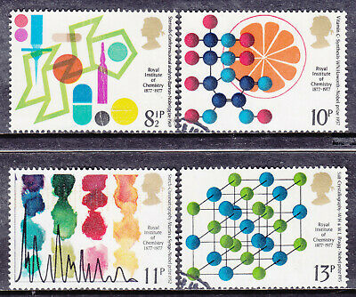 1977 GB institute Of Chemistry SG 1029-1032 Set Of 4 Used Commemorative Stamps