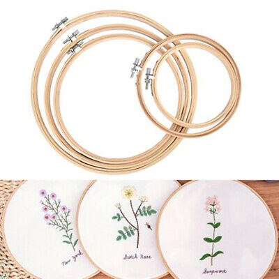 5pcs/set Embroidery Hoops Circle Cross Stitch Bamboo Ring Sewing Frame Art Craft