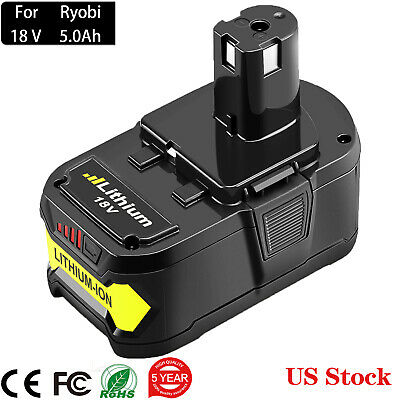 5000mAh 18 Volt Replacement for Ryobi 18V Battery Lithium ONE+ P108 P107 P105