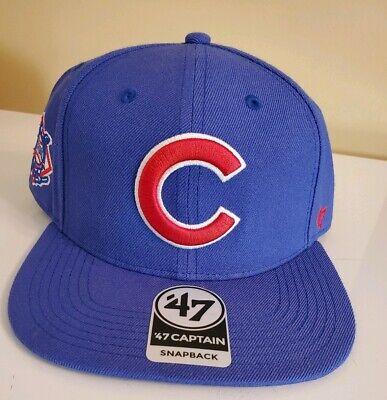 a79cf9fdabb872 CHICAGO CUBS '47 Brand Captain NL Logo Adjustable Snapback Hat/Cap MLB >NEW