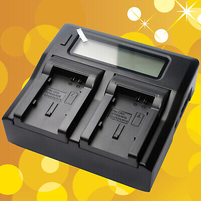 Fast Quick Double Dual Battery Charger for Canon BP828 BP827 BP819D BP808 BP820