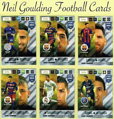 Panini FIFA 365 2016-2017 ☆ NORDIC EDITION ☆ Game Changer Cards #433 to #441