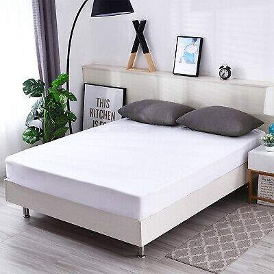 Luxury Matress Protector Waterproof Noiseless Breathable Cotton Mattress Cover