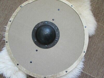 Canvas covered, planked,  Viking shield