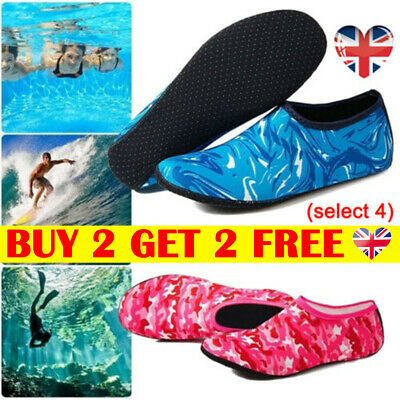 Women Men Water Shoes Aqua Socks Diving Socks Wetsuit Non-slip Swim Beach Sea_LT