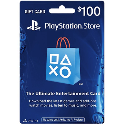 Sony US Playstation Network PSN USD 100 Card