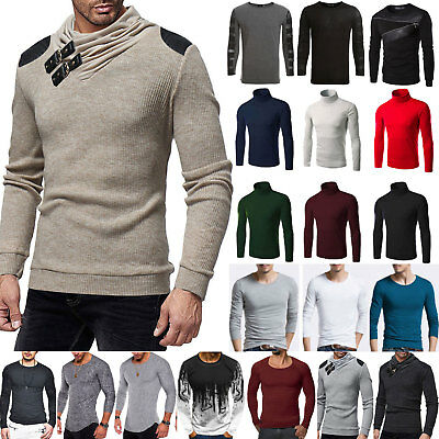 Mens Winter Slim Fit Long Sleeve Muscle T-shirt Casual Tops Blouse Basic Shirts