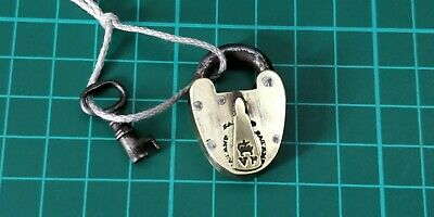 Brass Padlock Vr Victorian Antique Gate Door Shed Patent Lock With Key Working