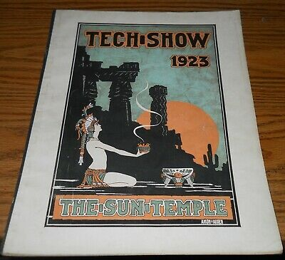 1923 Tech-Show the Sun Temple Musical Comedy Song Book~Beautiful Cover