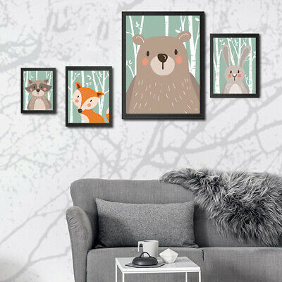 Lovely Wall Painting Cartoon Animal Canvas Print Painting Poster Unframed Sale